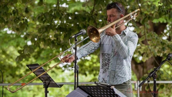 Eric Séva Quartet : Daniel Zimmermann. Festival JAZZ360 2016, Camblanes-et-Meynac, 11/06/2016