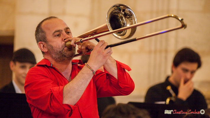 Cyril Dubilé; Big Band Jazz du conservatoire de Bordeaux Jacques Thibaud. Festival JAZZ360 2018, Cénac. 09/06/2018