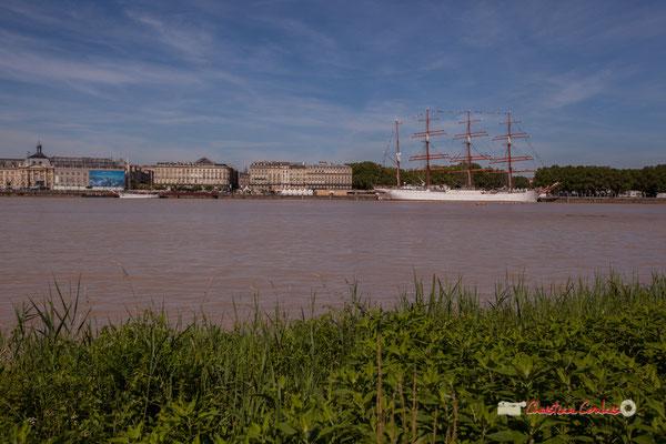 Fleuve Garonne, les quais de Bordeaux et le Sedov. Bordeaux, 22/06/2019 Reproduction interdite - Tous droits réservés © Christian Coulais