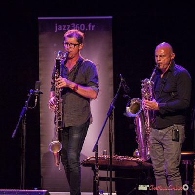 Fred Pouget, Guillaume Schmidt; Clax Quartet. Festival JAZZ360 2018, Cénac. 09/06/2018
