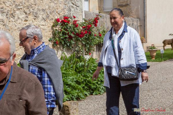 Arrivée de Martine Faure, Députée de la Gironde (2007-2017). 14 mai 2017, Blasimon