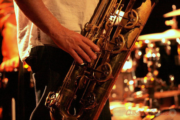Saxophone baryton de Francis Mounier; Fédération Française de Baryton (FFB), Festival JAZZ360 2011, Cénac. 05/06/2011