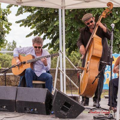 Bruno Debord, Olivier Cherbit; Swing Home Trio. Festival JAZZ3602019, Camblanes-et-Meynac. 08/06/2019
