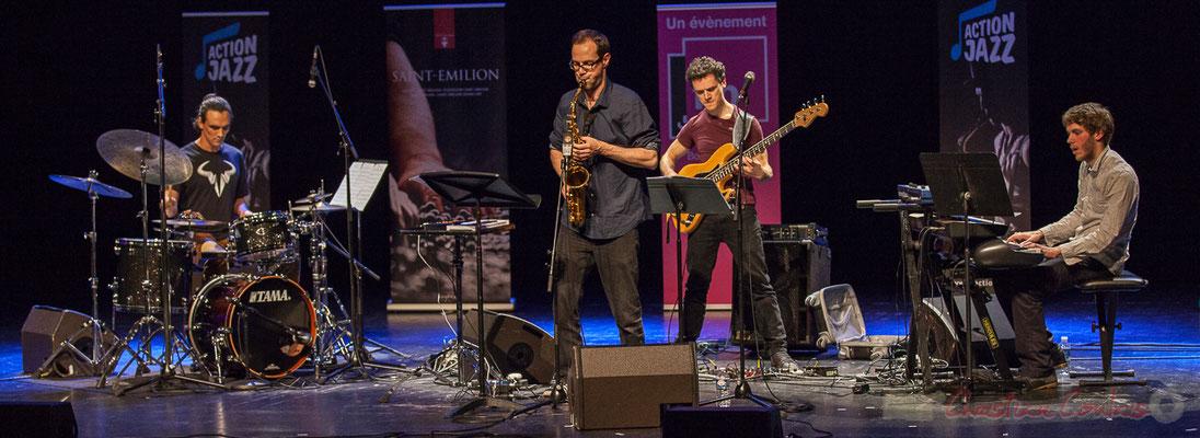 16 Gaétan Diaz, Julien Dubois, Ouriel Ellert, Simon Chivallon, quartet Le JarDin. Tremplin Action Jazz 2017. Le Rocher de Palmer