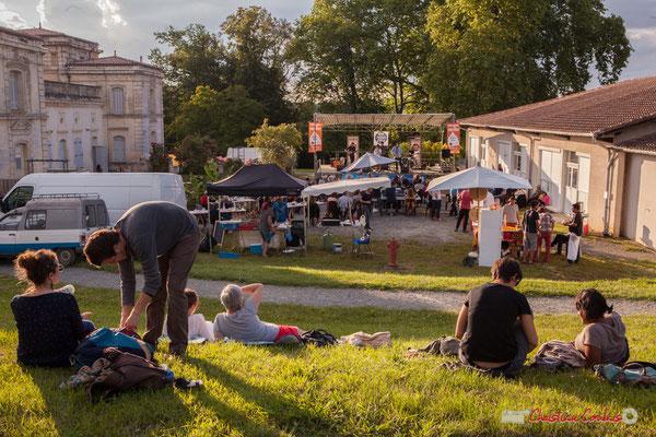 Parc de pomarède, théâtre de verdure pour écouter Oggy & The Phonics. Festival JAZZ360 2018, Langoiran. 07/06/2018
