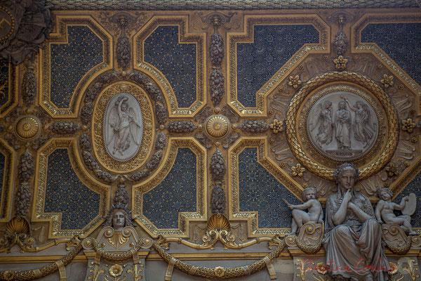 Détails des stuc de Simart, Le Salon carré, Musée du Louvre