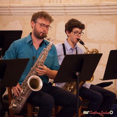 Jérôme Mascotto, Milo Gancille; Big Band Jazz du conservatoire de Bordeaux Jacques Thibaud. Festival JAZZ360 2018, Cénac. 09/06/2018