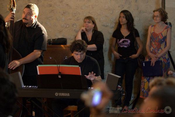 Timo Metzmaekers, Serge Moulinier, Chorale Jazz des écoles de la CDC des Portes de l'Entre-Deux-Mers. Festival JAZZ360 2012, église Saint-André, Cénac. 08/06/2012