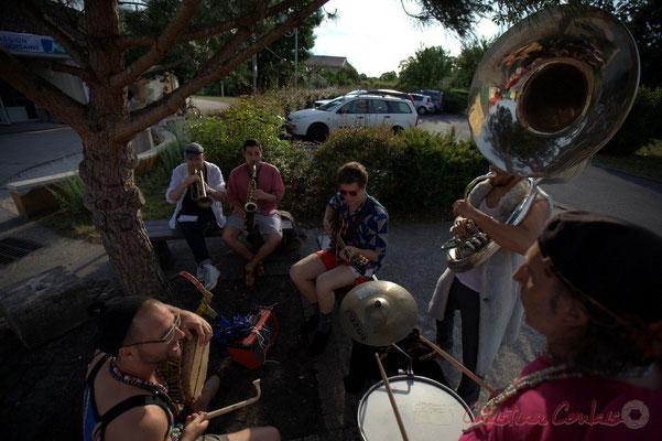 Festival JAZZ360 2015, Elephant Brass Machine. Alllées des écoliers, Cénac, 12 juin 2015