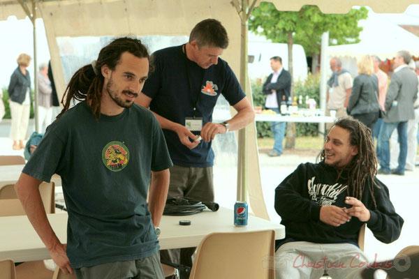 L'équipe technique son, Festival JAZZ360 2011, Cénac. 04/06/2011