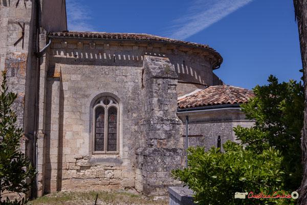 Façade sud de l'abside. Eglise Saint-André, Cénac. 11/05/2018