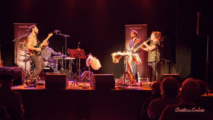 Dorian Dutech, Théo Teboul, Pierre Terrisse, Carla Gaudré ; Høst. Festival JAZZ360, Cénac. Vendredi 4 juin 2021. Photographie © Christian Coulais