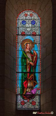 Vitrail nord Vierge Marie, don de Mr Gustave Samazeuilh, 1876. Eglise Saint-André, Cénac. 11/05/2018