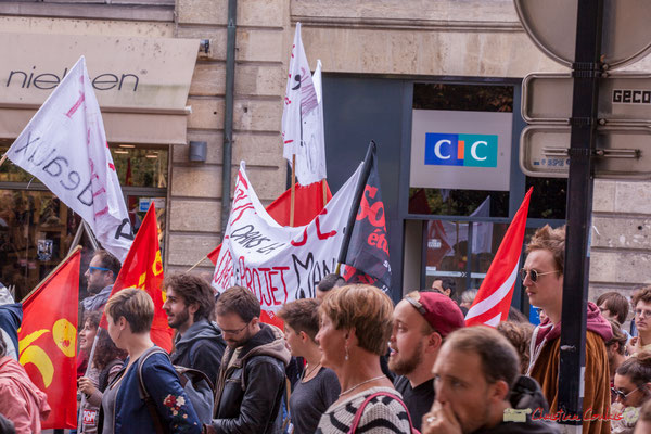Manifestation intersyndicale de la Fonction publique, place Gambetta, Bordeaux. 10/10/2017