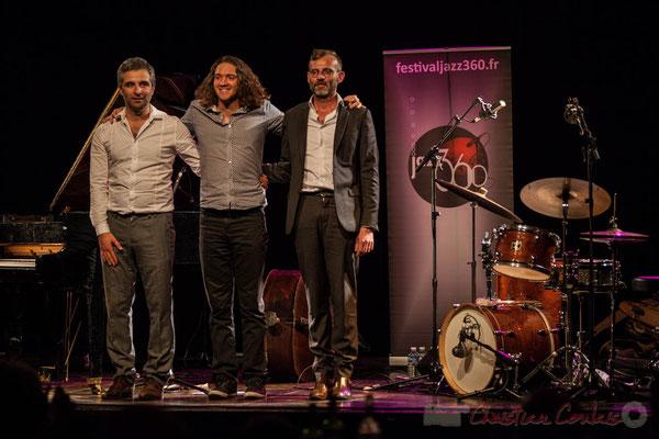 Trio Marcelle, Laurent Vanhée, Jéricho Ballan, Cédric Jeanneaud. Soirée Cabaret JAZZ360, Cénac, 05/11/2016