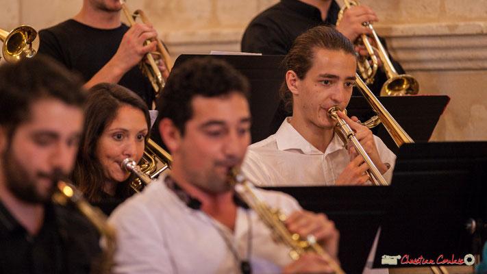 Rozann Bézier, Achille Martin; Big Band Jazz du conservatoire de Bordeaux Jacques Thibaud. Festival JAZZ360 2018, Cénac. 09/06/2018