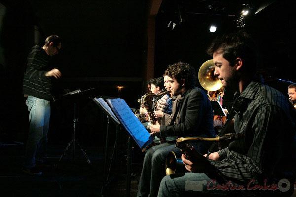 Julien Dubois et le Big Band du Conservatoire Jacques Thibaud, section Musiques Actuelles Amplifiées-Jazz. Festival JAZZ360 2010, Cénac. 14/05/2010