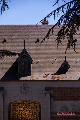 Les écuries du Château de Chaumont-sur-Loire, Loir-et-Cher, Région Centre-Val-de-Loire. Lundi 13 juillet 2020. Photographie © Christian Coulais