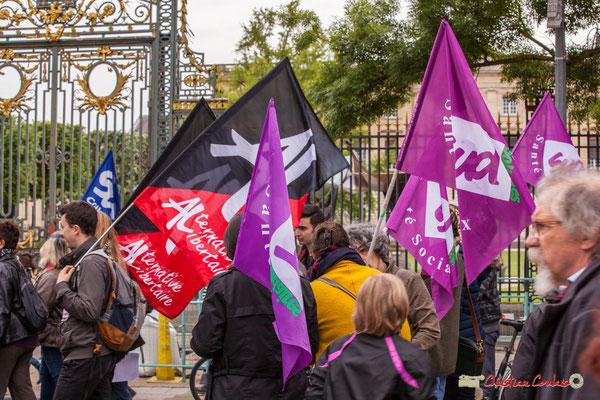 10h40 Militantants Alternative Libertaire, Sud Santé Solidaires. Cours d'Albret, Bordeaux. 01/05/2018