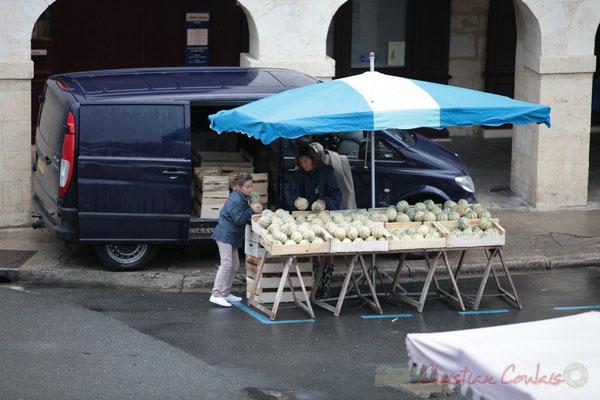 Producteur de melons, Marché de Créon, Gironde