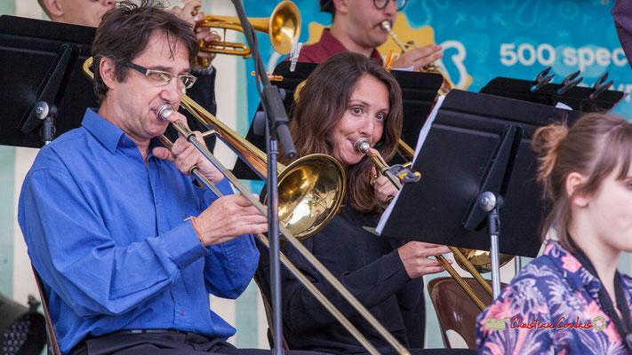 Didier Lacombe, Rozanne Bézier; Big Band du Conservatoire Jacques Thibaud. Festival JAZZ360 2019, parc du château de Pomarède, Langoiran. 06/06/2019