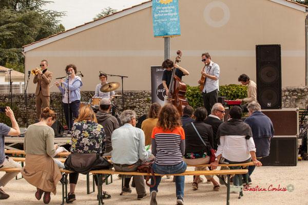 Robin Peret, Céline Hocquelet, Laëtitia Narel, Esteban Bardet, Nicolas Allard, Edward Rogers; Atelier Jazz du Conservatoire Jacques Thibaud, Festival JAZZ360 2019, Quinsac, 09/06/2019