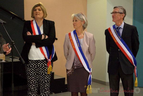 Catherine Veyssy, Simone Ferrer, Gérard Pointet, Maires de Cénac; Honorariat des anciens Maires de Cénac, vendredi 3 avril 2015