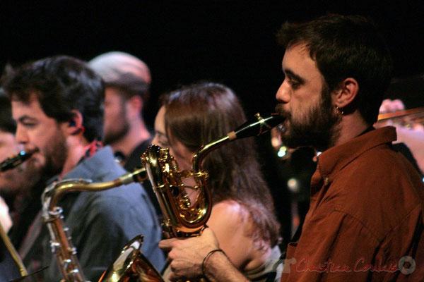 Saxophoniste baryton, Big Band du Conservatoire Jacques Thibaud, section MAA-Jazz. Festival JAZZ360 2011, Cénac. 03/06/2011