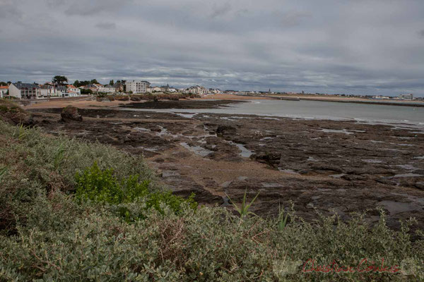 Saint-Gilles-Croix-de-Vie depuis la Pointe de Grosse Terre, Corniche Vendéenne, Vendée, Pays de Loire