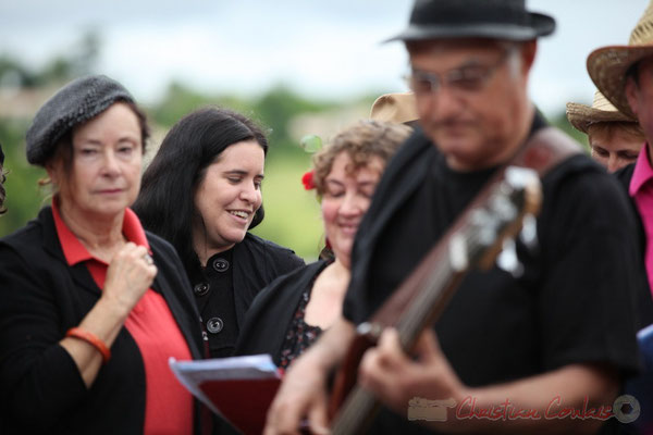 Festival JAZZ360 2013, les Choraleurs dirigés par Nathalie Aubin. Quinsac, 08/06/2013