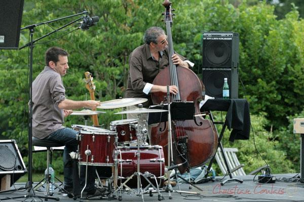 Philippe Bayle Trio; Didier Ottaviani, Iazid Ketfi. Festival JAZZ360 2011, Quinsac. 05/06/2011