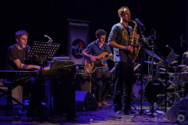 Le Jardin Quartet : Simon Chivallon, piano /  Ouriel Ellert, basse / Julien Dubois, saxophone. Festival JAZZ360 2016, 10/06/2016