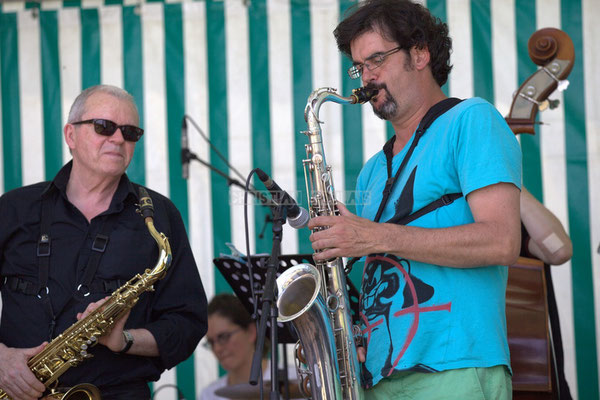 Festival JAZZ360 2014, Rémy Brown, Grat Martinez; Jazzméléon Trafic. Cénac, 07/06/2014