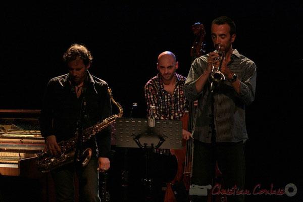 Frédéric Borey, Mauro Gargano, Sylvain Gontard; Roger Biwandu Quintet, Festival JAZZ360 2011, Cénac. 03/06/2011