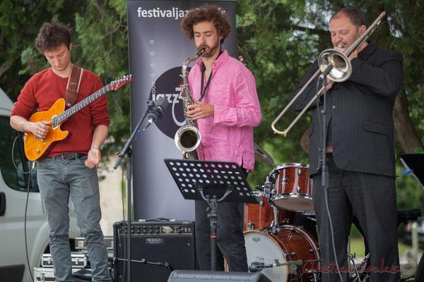 Alexis Valet Quartet : Yori Moy, Brice Matha, Sébastien Arruti. Festival JAZZ360 2016, Quinsac, 12/06/2016