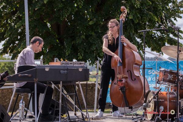 Loïc Cavadore, Nolwenn Leizour; Loïc Cavadore Trio. Festival JAZZ360 2019, Camblanes-et-Meynac. 08/06/2019