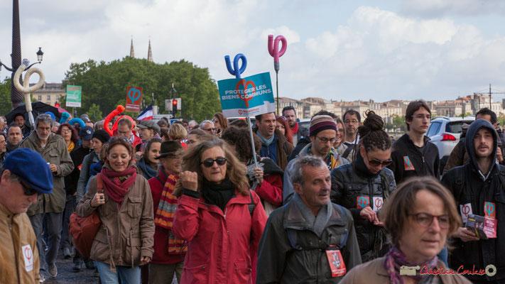 Manifestation du 1er mai 2017, avec la France Insoumise, quai de la Douane, Bordeaux