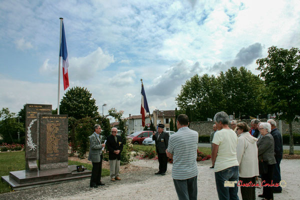 Gérard Pointet, Président des Anciens Combattants. Commémoration de l'Appel du Général de Gaulle, vendredi 18 juin 2010 à Cénac (Gironde)