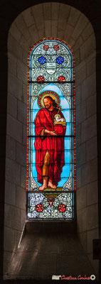 Vitrail sud Saint-Jean-Baptiste, don de Madame Gilloux, 1877. Eglise Saint-André, Cénac. 11/05/2018