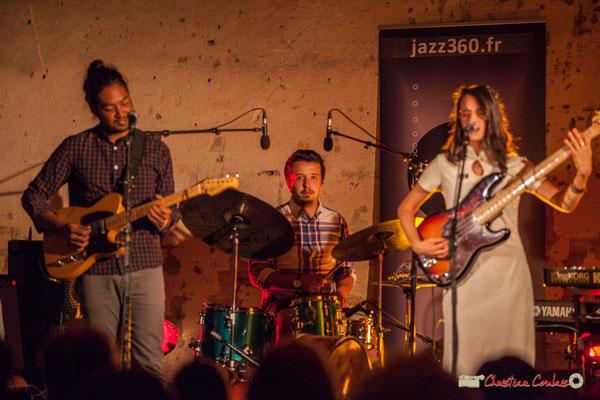 Johary Rakotondramasy, Nicolas Girardi, Laure Sanchez; Laure Sanchez Quintet, JAZZ360 au Domaine de Sentout, Lignan-de-Bordeaux. 08/09/2018