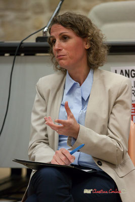 Marie Duret-Pujol, candidate aux élections européennes La France insoumise. Langon, 14/02/2019
