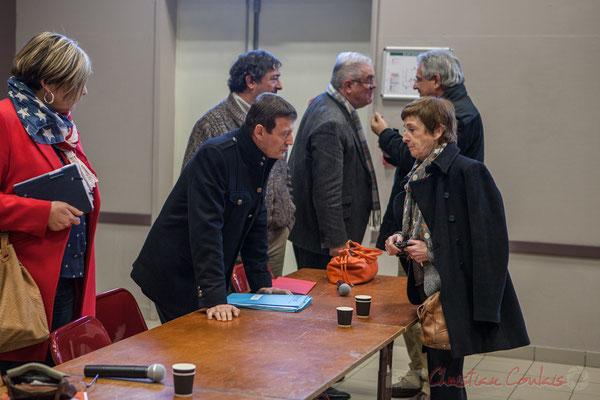 Thierry Suquet, Secrétaire général de la Préfecture de la Gironde, Françoise Immer, adjointe au Maire de Pompignac