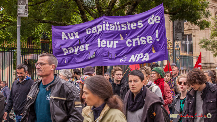 """10h38 NPA """"Aux capitalistes de payer leur crise !"""" Cours d'Albret, Bordeaux. 01/05/2018"""