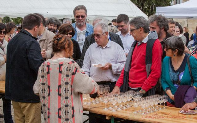Vin d'honneur offert par la municipalité, Crémant de Bordeaux et Clairet de Quinsac. Festival JAZZ360 2016, Quinsac, 12/06/2016
