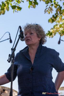 Marie-Line Micheau-Héraud, adjointe au Maire de Camblanes-et-Meynac. Festival JAZZ360, 10 juin 2017, Camblanes-et-Meynac