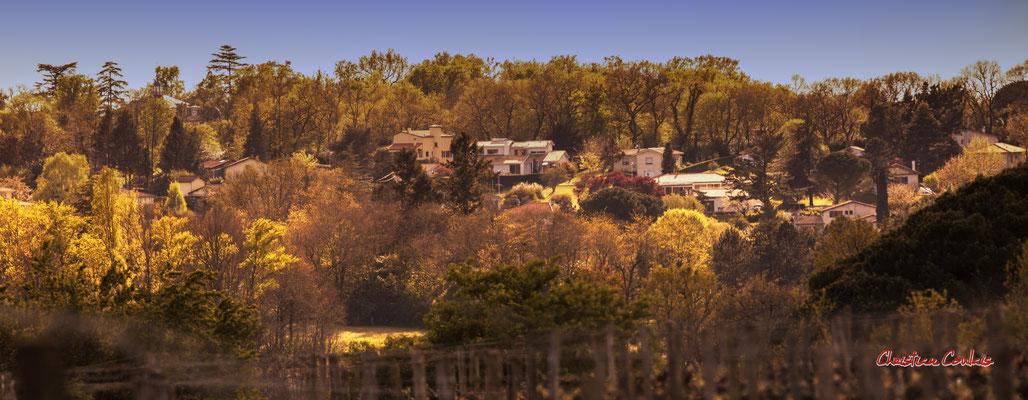 Quartier Pujade, Cénac. Vendredi 3 avril 2020. Photographie panoramique : Christian Coulais