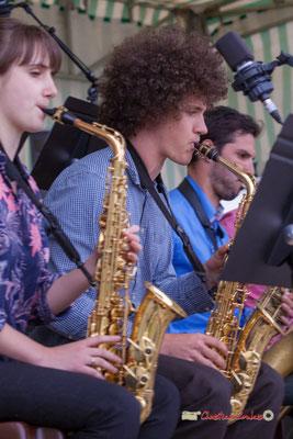 Pierre Thiot, Big Band du Conservatoire Jacques Thibaud. Festival JAZZ360 2019, parc du château de Pomarède, Langoiran. 06/06/2019