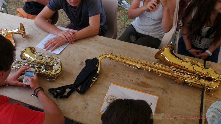 """""""SMS & saxophones"""" Festival JAZZ360 2013, Big band du Collège de Monségur, Cénac. 07/06/2013"""