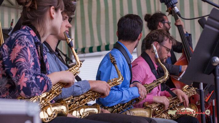 Solo de contrebasse; Big Band du Conservatoire Jacques Thibaud. Festival JAZZ360 2019, parc du château de Pomarède, Langoiran. 06/06/2019