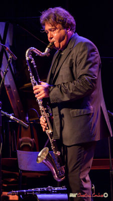 """Louis Sclavis et sa clarinette basse sib; Louis Sclavis Quartet """"Characters on a wall"""". Festival JAZZ360 2018, Cénac. 08/06/2018"""